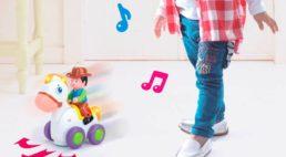 Интерактивная игрушка, Храбрый наездник, (свет, звук), белая, № 7605A