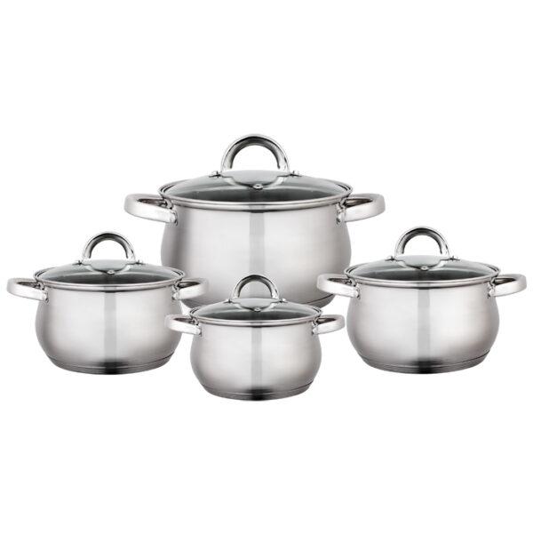 Набор посуды Webber 4 кастрюли + крышки BE-620/8