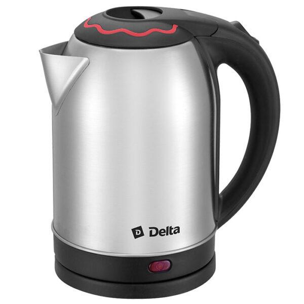 Чайник 2 л DELTA DL-1330 c красной вставкой