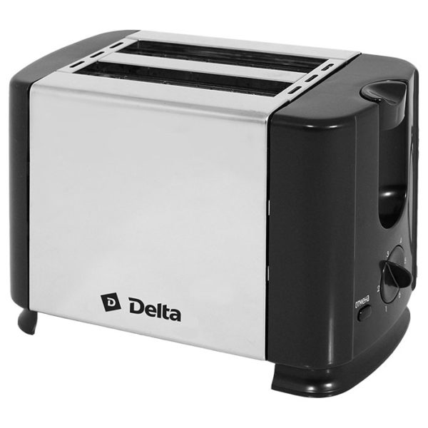 Тостер 700 Вт, таймер, нержав. сталь, DELTA DL-61