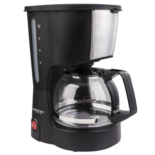 Кофеварка 600Вт, 600мл 6 чашек DELTA LUX DL-8161