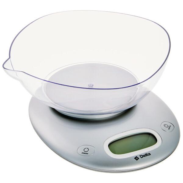 Весы с чашей, до 5кг, LCD дисплей, серебро KCE-34