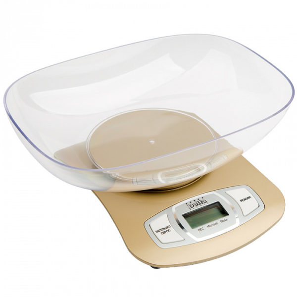 Весы с чашей, до 5кг, LCD дисплей DELTA КСЕ-09-42