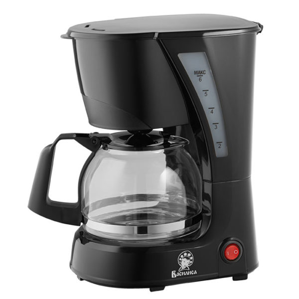 Кофеварка ВАСИЛИСА КВ2-600 черная, 600 Вт, 600 мл